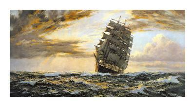 The Golden West - The 'Pamir'-Montague Dawson-Premium Giclee Print