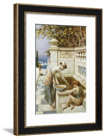 The Goldfish Pond-William Stephen Coleman-Framed Giclee Print
