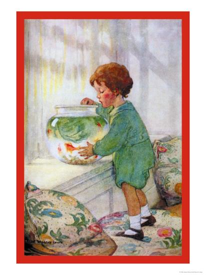 The Goldfish-Jessie Willcox-Smith-Art Print