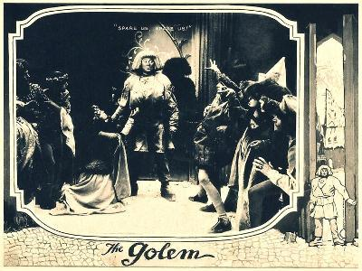 THE GOLEM (aka DER GOLEM, WIE ER IN DIE WELT KAM), center: Paul Wegener, 1920.--Art Print