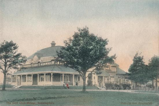 'The Golf Club House, Sunningdale', c1910-Unknown-Giclee Print