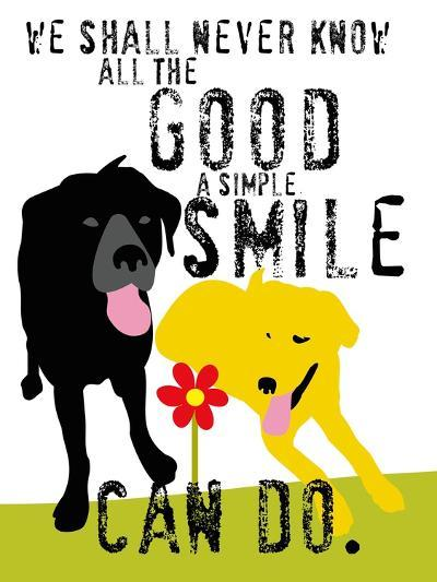 The Good a Simple Smile Can Do-Ginger Oliphant-Art Print