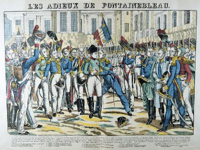 The Good-Byes of Fontainbleau, 19th Century--Giclee Print