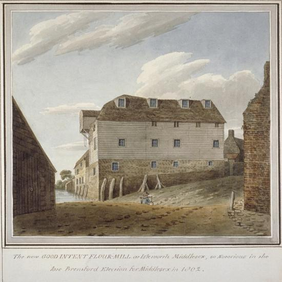 The Good Intent Flour Mill, Isleworth, Middlesex, C1802--Giclee Print