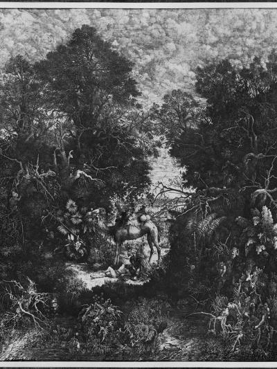 The Good Samaritan, 1861 (Litho)-Rodolphe Bresdin-Giclee Print