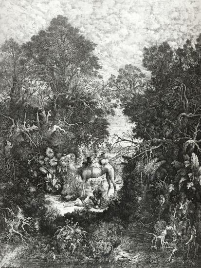 The Good Samaritan, 1861-Rodolphe Bresdin-Giclee Print