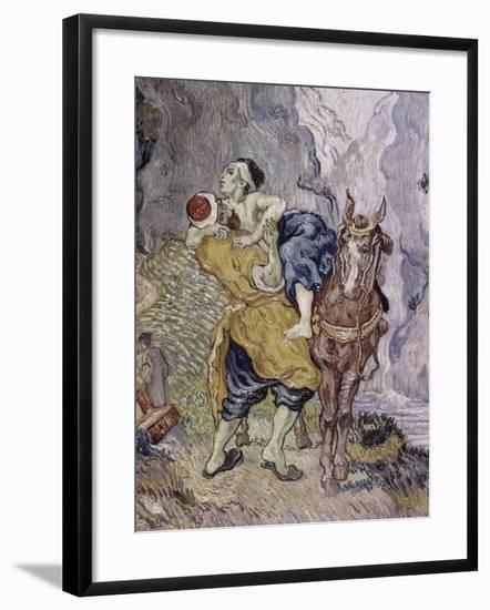 The Good Samaritan, 1890-Vincent van Gogh-Framed Giclee Print