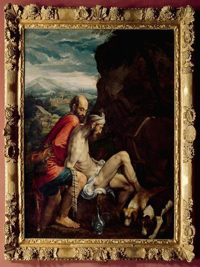 The Good Samaritan, c.1550-70-Jacopo Bassano-Giclee Print