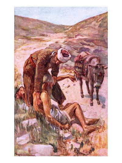 The Good Samaritan-Harold Copping-Giclee Print
