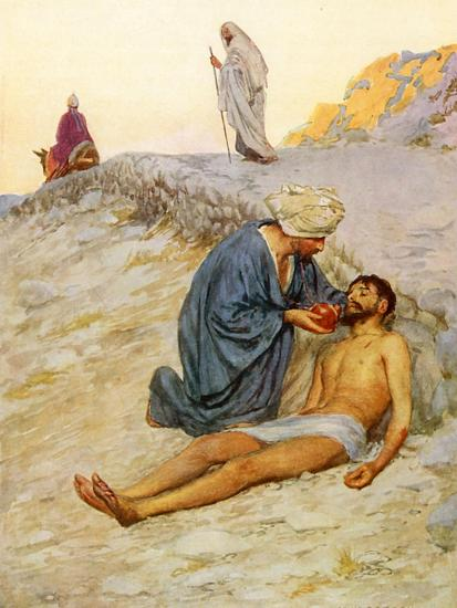 The Good Samaritan-William Henry Margetson-Giclee Print