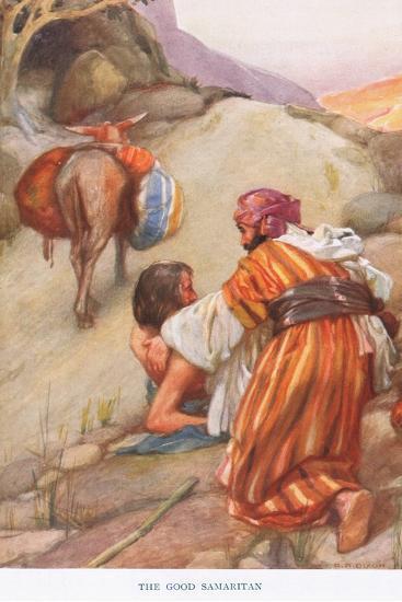 The Good Samaritan-Arthur A^ Dixon-Giclee Print