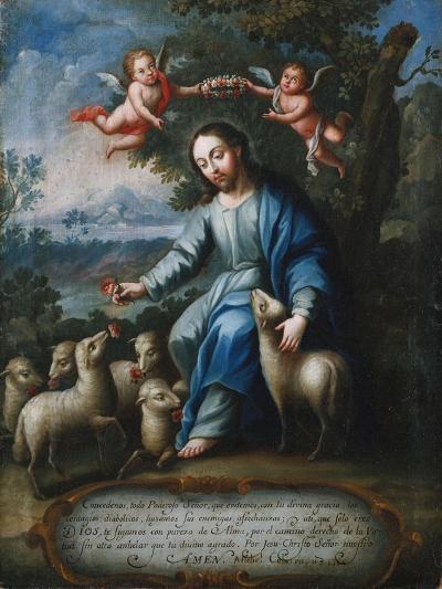 The Good Shepherd, El Buen Pastor, 1765-Miguel Cabrera-Giclee Print