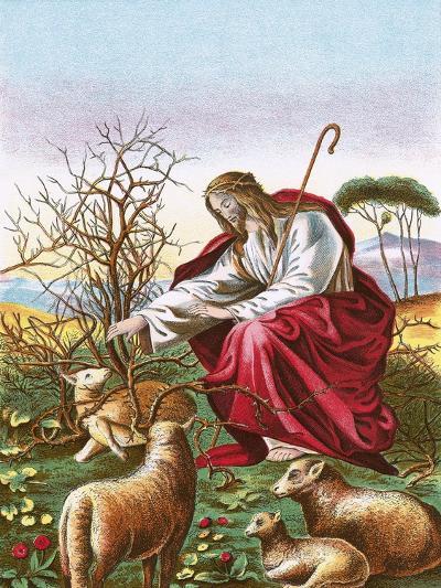 The Good Shepherd-English-Giclee Print