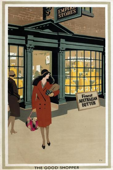 The Good Shopper, from the Series 'Empire Buying Makes Busy Factories'-Frank Newbould-Giclee Print