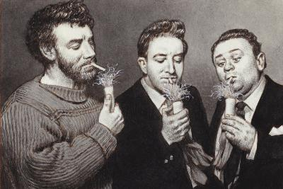 The Goons: Spike Milligan, Peter Sellers, Harry Secombe-Pat Nicolle-Giclee Print