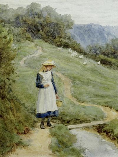 The Goose-Girl-Helen Allingham-Giclee Print