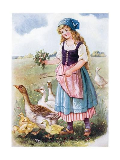 The Goose Girl--Giclee Print