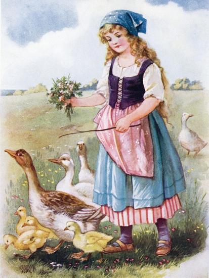 The Goose Girl--Giclee Print
