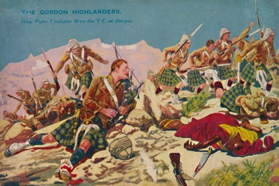 'The Gordon Highlanders. How Piper Findlater won the V.C. at Dargai', 1897, (1939)-Unknown-Giclee Print