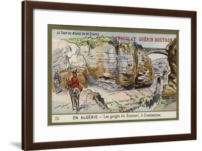 The Gorges of Rummel, Near Constantine, Algeria--Framed Giclee Print