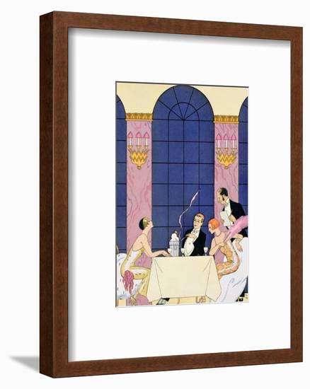 The Gourmands, 1920-30-Georges Barbier-Framed Premium Giclee Print