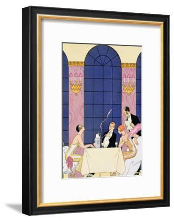The Gourmands, 1920-30-Georges Barbier-Framed Giclee Print
