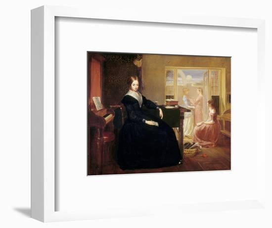 The Governess, c.1844-Richard Redgrave-Framed Premium Giclee Print