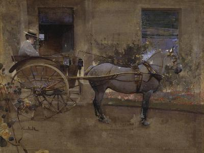 The Governess Cart-Joseph Crawhall-Giclee Print