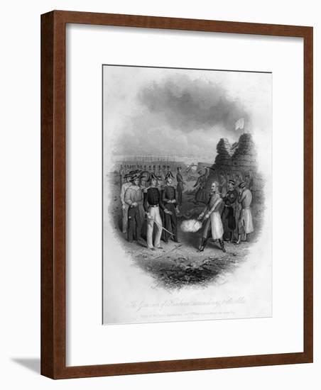 The Governor of Kinburn Surrendering to the Allies, Crimean War, October 1855-G Greatbach-Framed Giclee Print