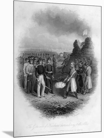 The Governor of Kinburn Surrendering to the Allies, Crimean War, October 1855-G Greatbach-Mounted Giclee Print