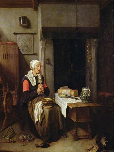 The Grace (Oil on Panel)-Quiringh Gerritsz. van Brekelenkam-Giclee Print