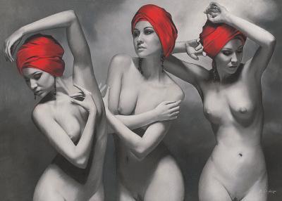 The Graces-Brita Seifert-Art Print
