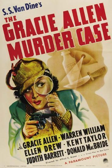 The Gracie Allen Murder Case, Gracie Allen, 1939--Art Print