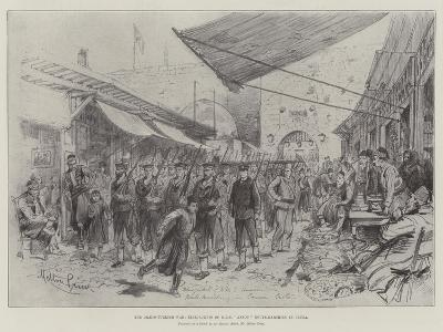 The Graeco-Turkish War, Bluejackets of HMS Anson Route-Marching in Canea-Melton Prior-Giclee Print