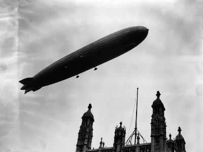 The Graf Zeppelin Airship in London--Photographic Print