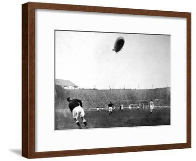 The 'Graf Zeppelin' over Wembley During the F.A. Cup Final