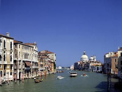 The Grand Canal and San Salute from Accademia Bridge, Venice, Italy-Peter Thompson-Photographic Print