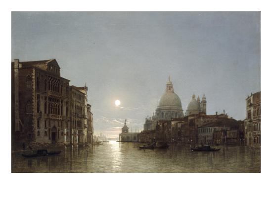 The Grand Canal by Moonlight-Henry Pether-Giclee Print