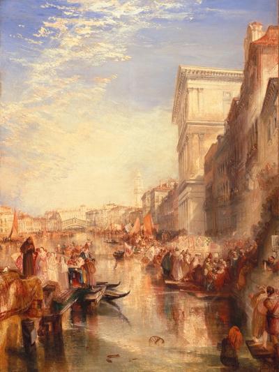 The Grand Canal: Scene - a Street in Venice, C.1837-J^ M^ W^ Turner-Giclee Print
