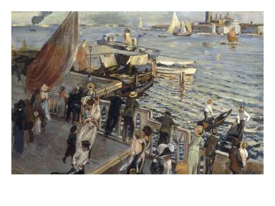 The Grand Canal, Venice, 1894-Ettore Tito-Giclee Print
