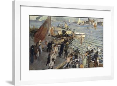 The Grand Canal, Venice, 1894-Ettore Tito-Framed Giclee Print