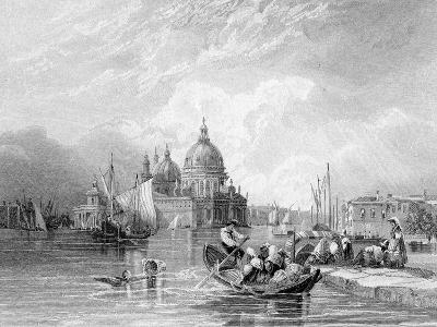 The Grand Canal, Venice, Engraved by J. Thomas, C.1829 (Engraving)-Charles Bentley-Giclee Print