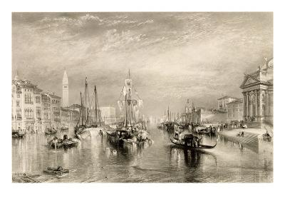 The Grand Canal, Venice, Engraved by William Miller (1796-1882) 1838-52 (Engraving)-J^ M^ W^ Turner-Giclee Print