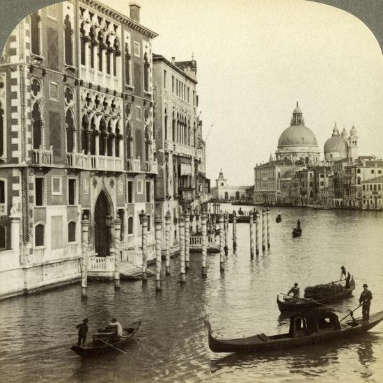 The Grand Canal, Venice, Italy-Underwood & Underwood-Photographic Print
