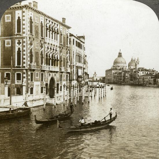 The Grand Canal, Venice, Italy-Underwood & Underwood-Photographic Print