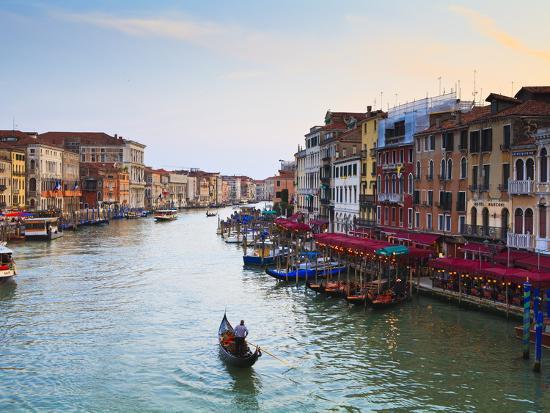 The Grand Canal, Venice, UNESCO World Heritage Site, Veneto, Italy, Europe-Amanda Hall-Photographic Print