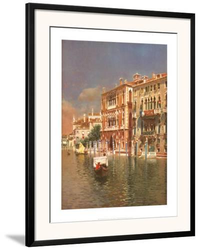 The Grand Canal, Venice-Rubens Santoro-Framed Art Print
