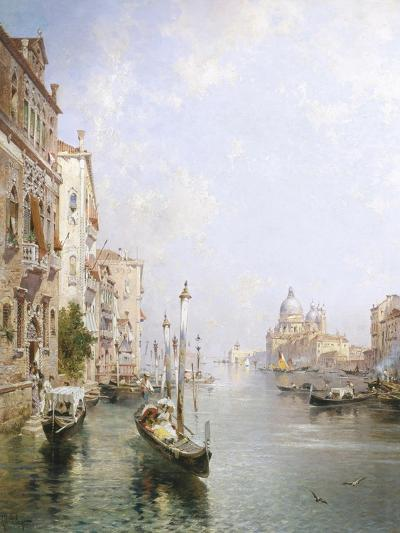 The Grand Canal, Venice-Franz Richard Unterberger-Giclee Print