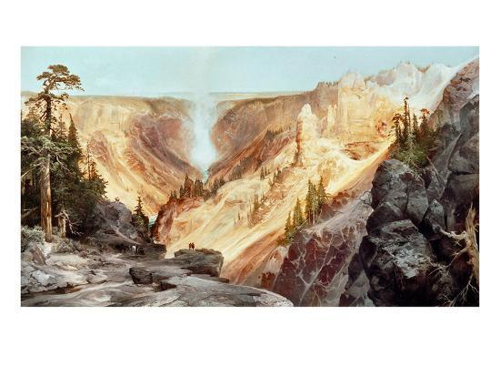 The Grand Canyon of the Yellowstone, 1872-Thomas Moran-Giclee Print