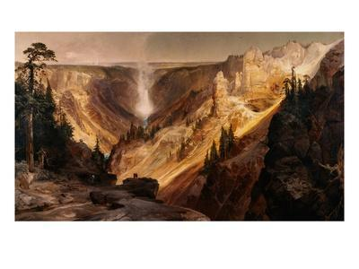 The Grand Canyon of the Yellowstone-Thomas Moran-Giclee Print